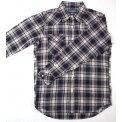 Mini Herringbone Medium Weight Flannel Western Shirt - Mark III