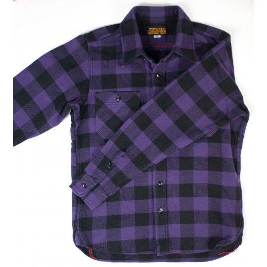 Ultra Heavy Buffalo Check Work Shirt - Purple/Black
