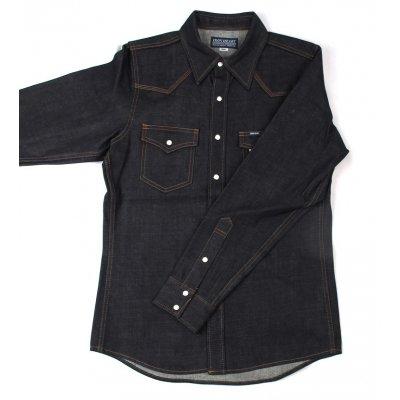 12oz New Raw Indigo Denim Western Shirt