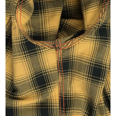 Yellow/Black 6oz Ombré Check Flannel Work Shirt