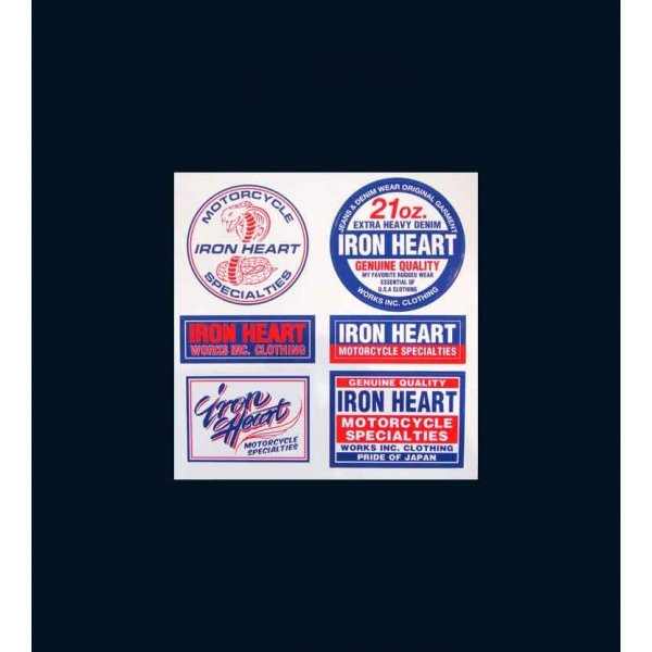 Two Colour Iron Heart Stickers