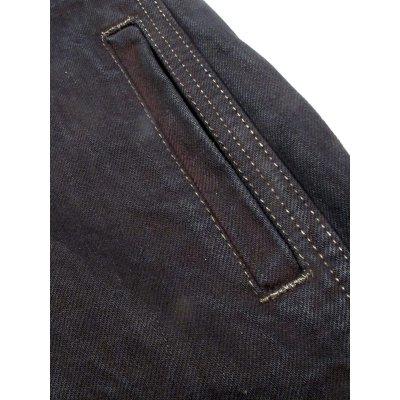13.5oz Overdyed Indigo Denim Western Shirt With Side Pockets