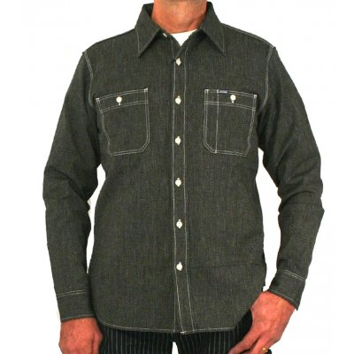 Chambray Work Shirt - Black (Salt & Pepper)