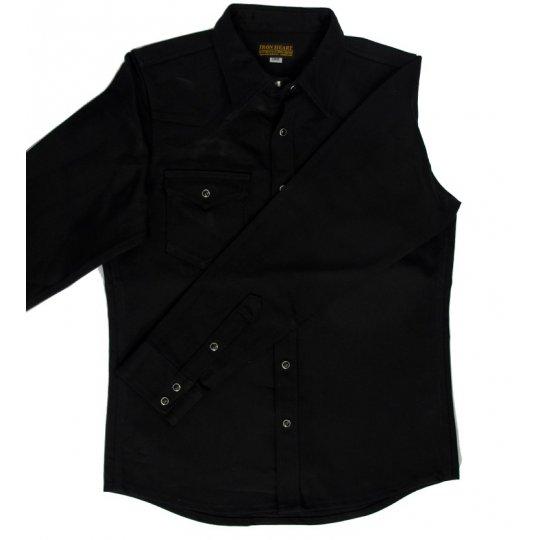 16oz Super Black Fades to Grey Western Shirt