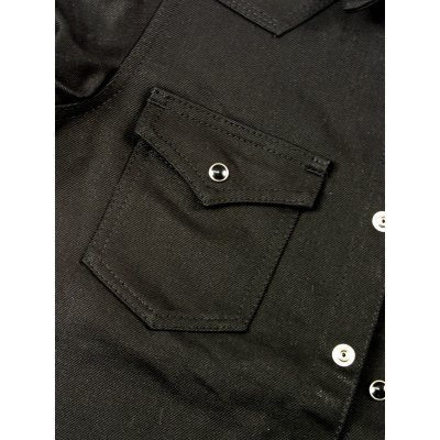 16oz Super Black Fades to Grey Western Shirt