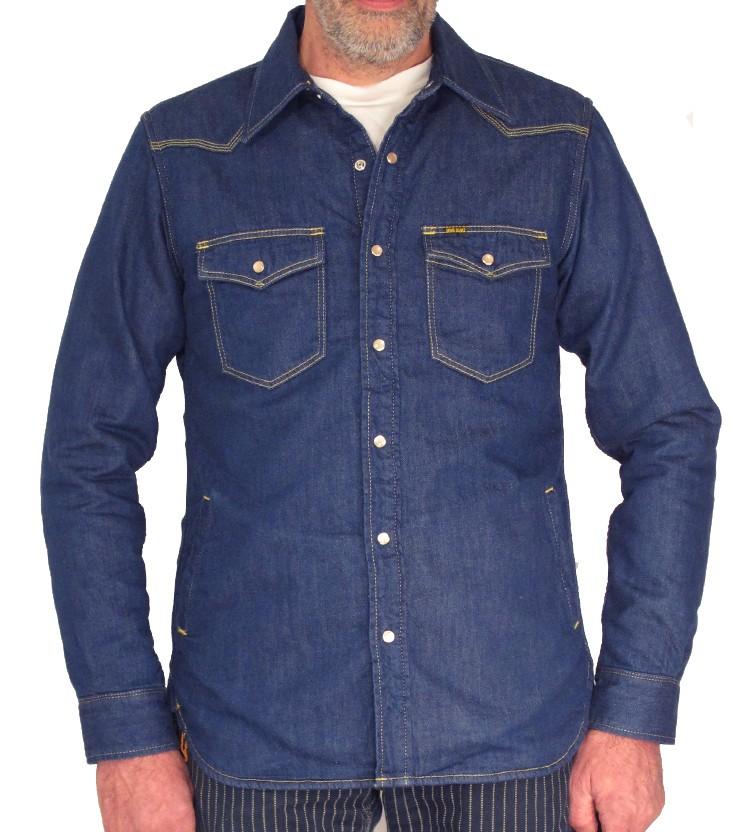 Ihsh 49 Blanket Lined 8oz Indigo Denim Shirt