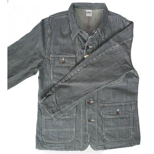 17oz Indigo Hickory Chore Jacket
