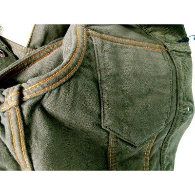 Double Weave Corduroy Type III - Olive Green, Black & Beige