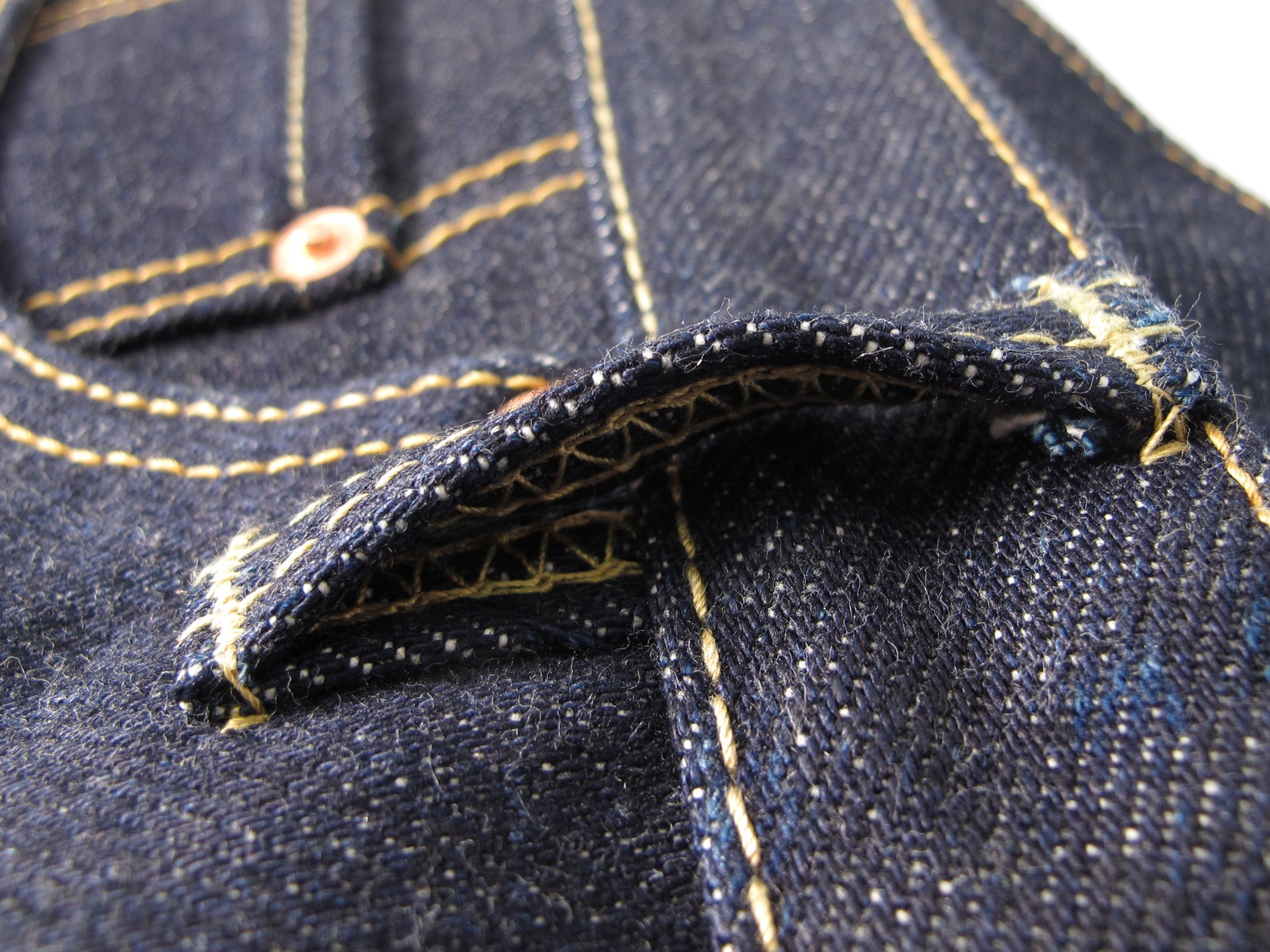 9f13da80 IH-634S-RAW   21/23oz Japanese Selvage Indigo Denim Straight Cut Jean