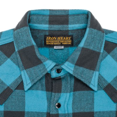 Turquoise/Grey Ultra Heavy Buffalo Check Western