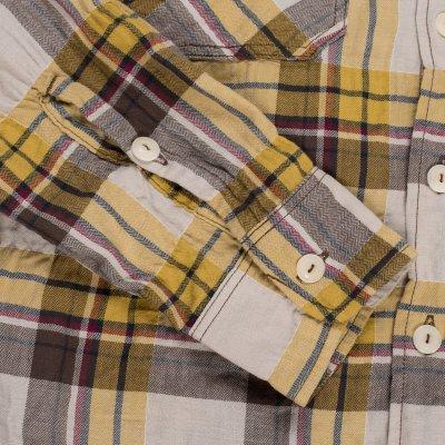 Blue or Yellow Check 5oz Mini-Herringbone Work Shirt