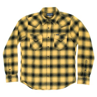 Yellow/Black Ombré Check Flannel Western