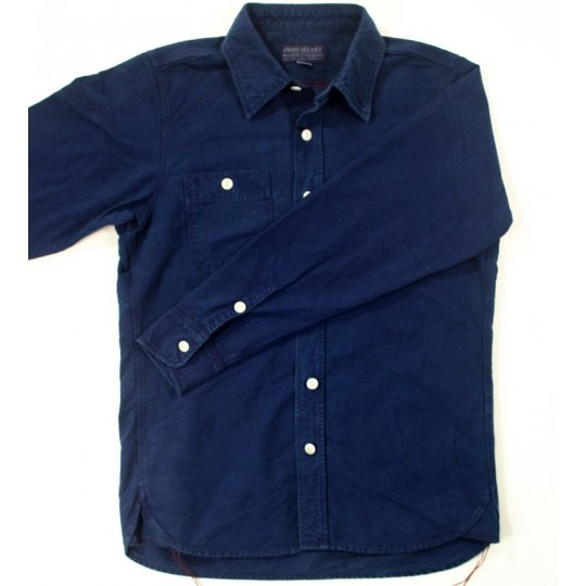 Indigo Overdyed Oxford Cotton Work Shirt