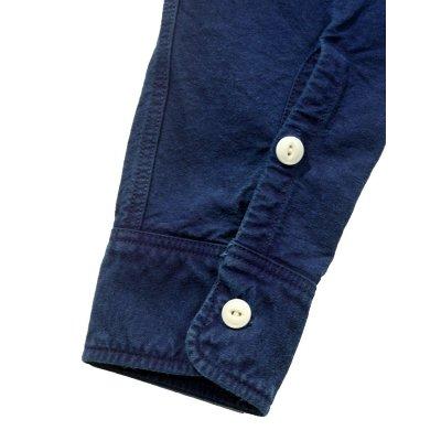 Indigo Overdyed Oxford Cotton Work Shirt