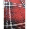 Metallic Thread Flannel Western - Red