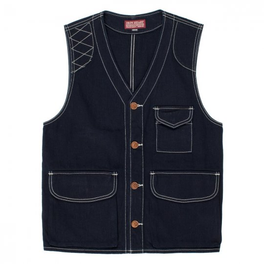 Indigo 12oz Selvedge Denim Hunter's Vest