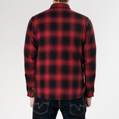 Ultra Heavy Flannel Ombré Check Work Shirt in 2 Colours