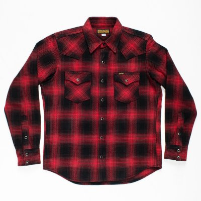 Ultra Heavy Flannel Ombré Check Western in 2 Colours