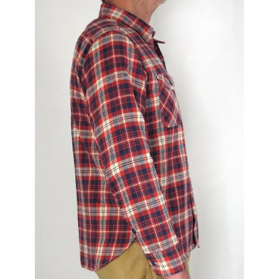 Slubby Light/Mid Weight Flannel Work Shirt