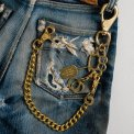 Brass Wallet Chain with Rings and Clip