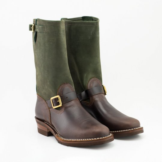 "The Bootery/Wesco® - 11"" Boss Engineer - Olive Burlap Brown Domain"