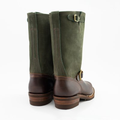 """The Bootery/Wesco® - 11"""" Boss Engineer - Olive Burlap Brown Domain"""
