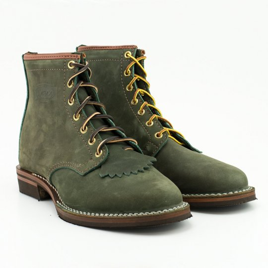 """The Bootery/Wesco® - Olive Burlap """"Foot Patrol"""""""