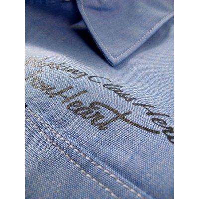 Short Sleeved Chambray Mechanic's Shirt
