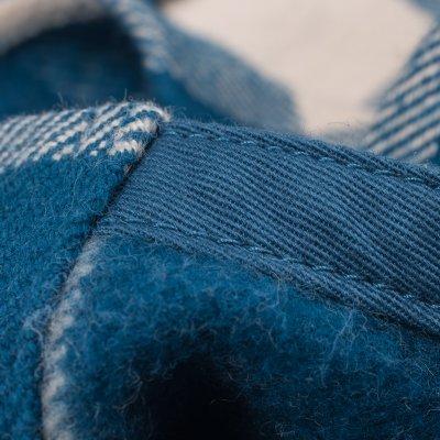 Blue/Cream Ultra Heavy Flannel Buffalo Check Work Shirt