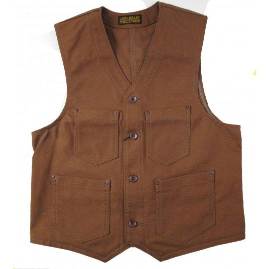17oz Brown Duck Work Vest