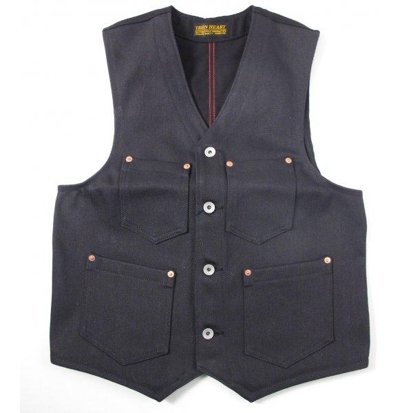 21oz Grey Denim/Black Duck Work Vest