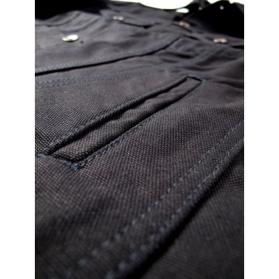 17oz Black Cotton Duck Modified Type III Jacket