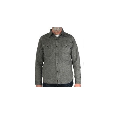 TW - Cotton/Linen Herringbone Work Shirt - Blue & Black