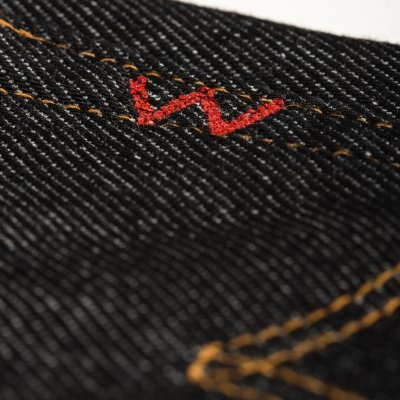 Black 21oz Non Selvedge Denim Straight Cut