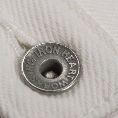 21oz Selvedge Denim Straight Cut Jeans - White