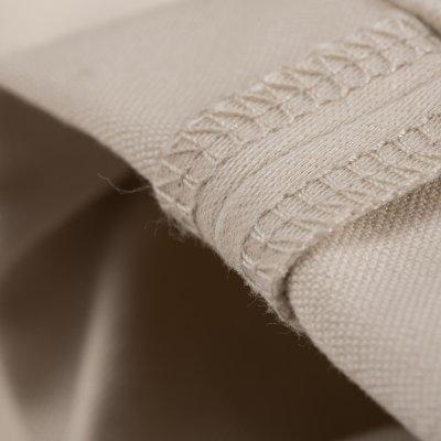 Ivory 14oz Cotton Satin Slim Cut
