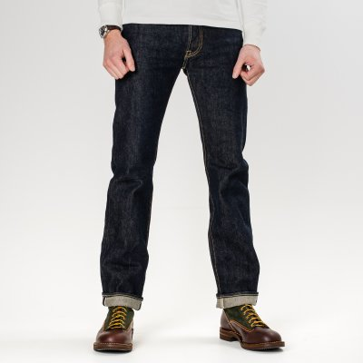 Indigo 21oz Selvedge Denim Slim Straight Cut