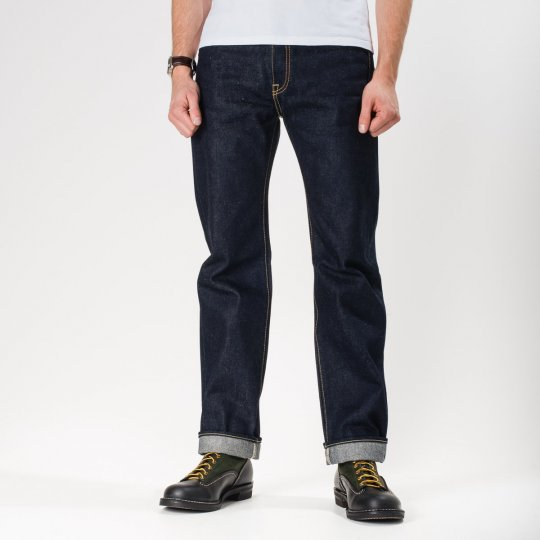 Indigo 21-23oz Raw Denim Slim Tapered