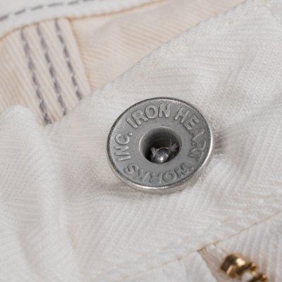 White 12oz Herringbone Logger Pants