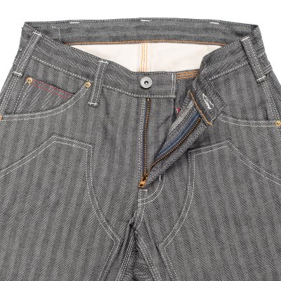 Black 12oz Herringbone Logger Pants