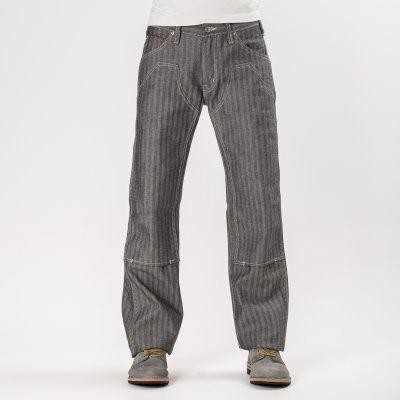 Black 12oz Herringbone Logger Pants