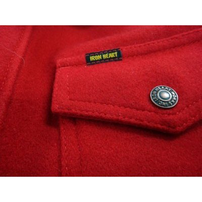 Melton Wool Shirt - Navy or Red