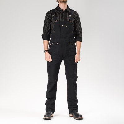 Black or Brown 17oz Duck Double Knee Overalls