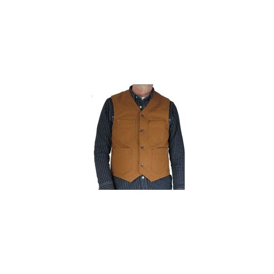 17oz Brown Duck Work Vest