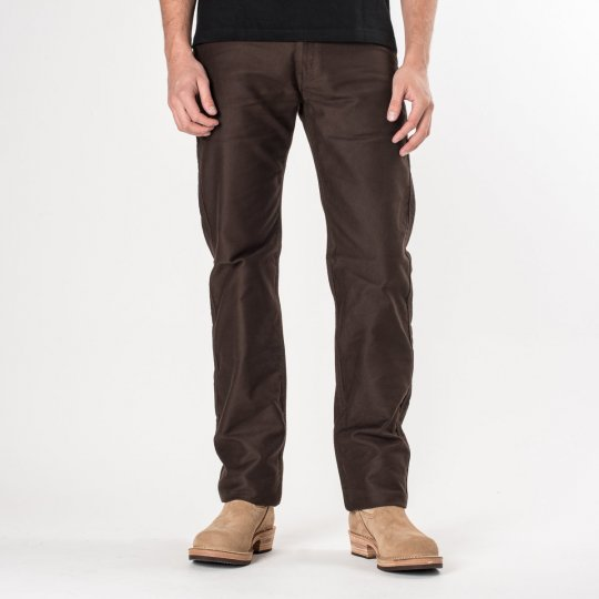 Brown Cotton Whipcord Works Pants