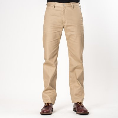Khaki Selvedge 9oz Mercerised Cotton Chinos