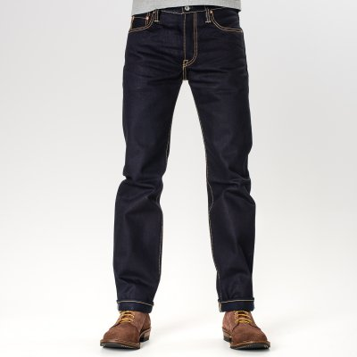 Indigo/Indigo 18oz Selvedge Denim Slim Cut