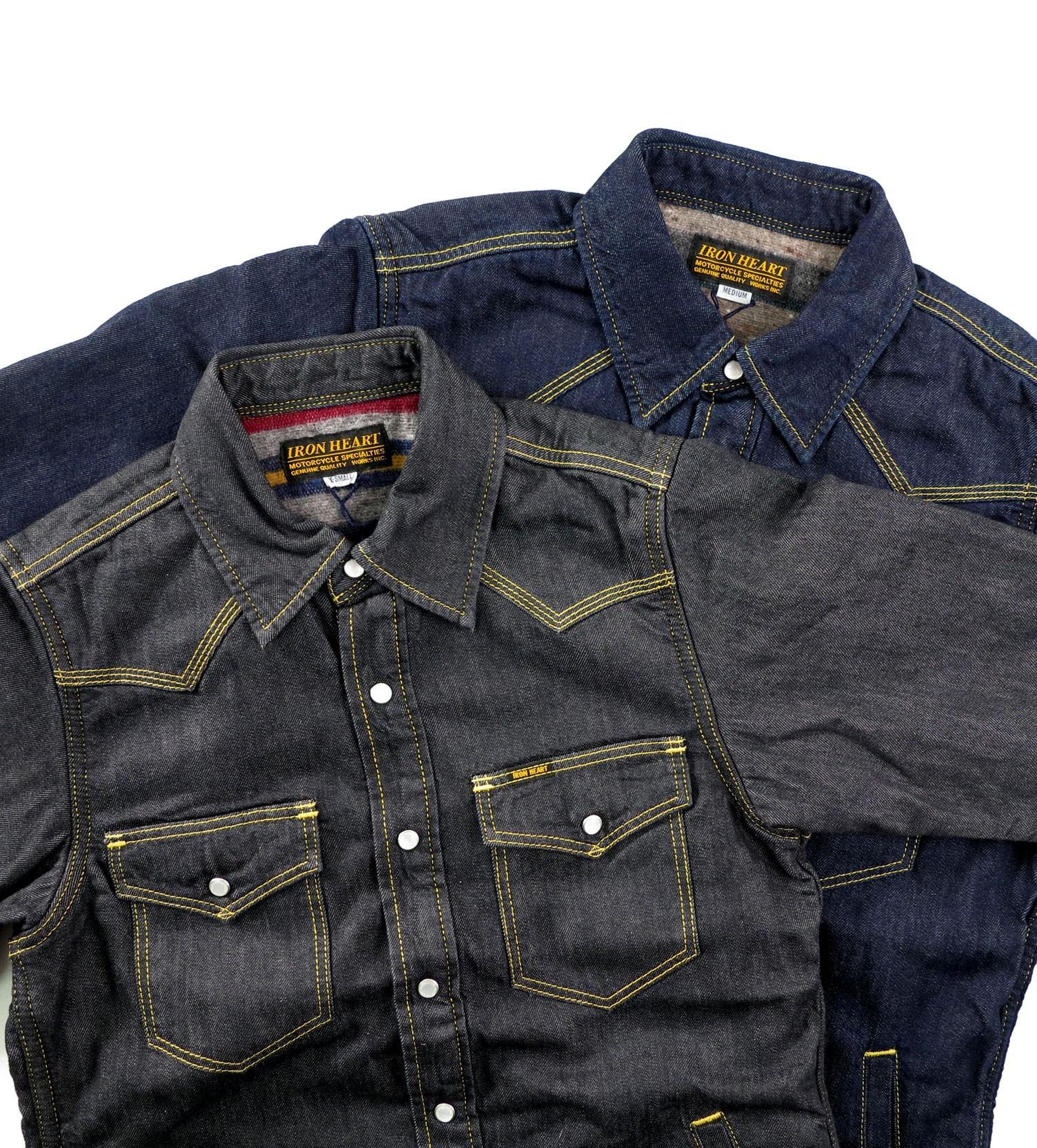 4809f28ea6 Blanket Lined 8oz Indigo or Black Denim Shirt