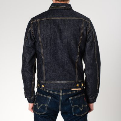 Indigo 18oz Raw Selvedge Denim 1946 Type Rider's Jacket