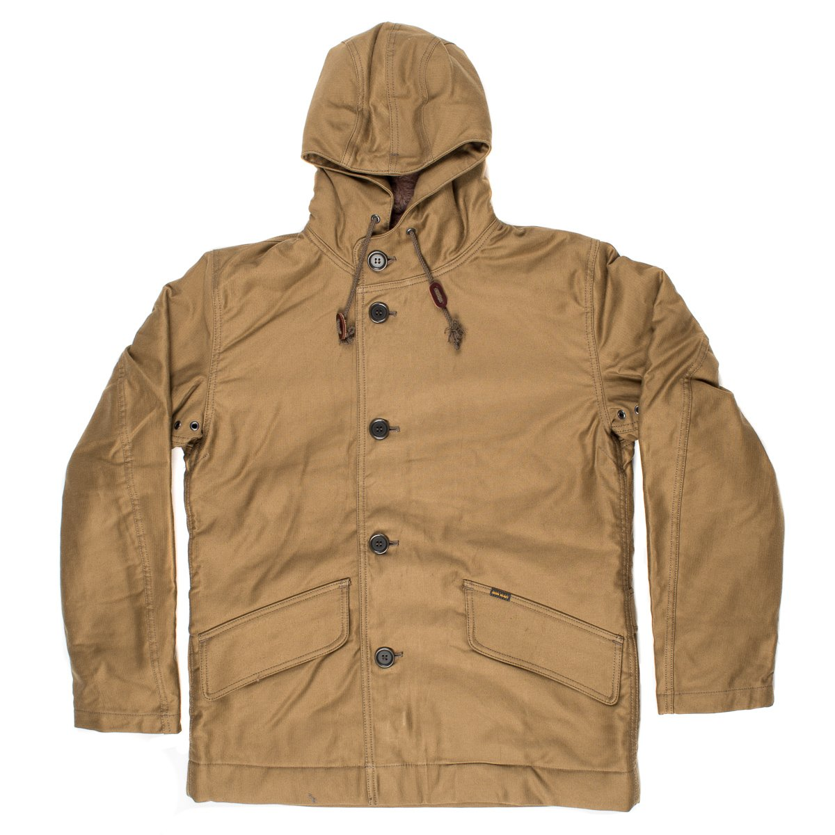 57b843046e8 Khaki Alpaca Lined Whipcord N1 Deck Half-Coat